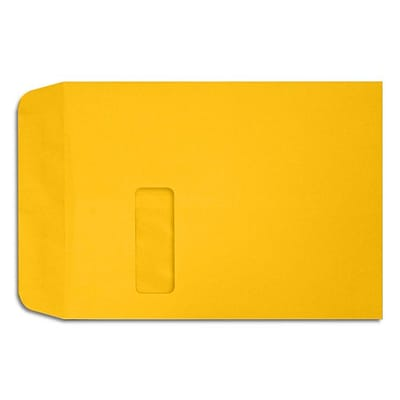 LUX Open End Window Envelopes 9 x 12, Sunflower Yellow
