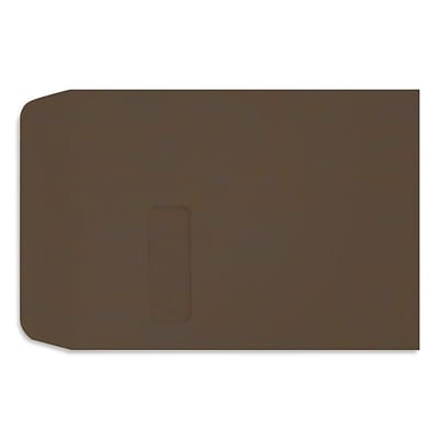 LUX Open End Envelopes 9 x 12, Chocolate Brown