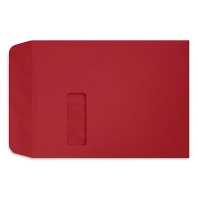 LUX 9 x 12 Open End Window Envelopes, Ruby Red (LUX-1590-18-50)
