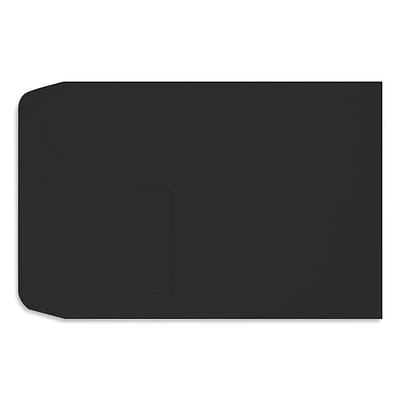 LUX 9 x 12 Open End Window Envelopes, Midnight Black