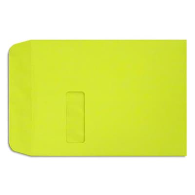 LUX 9 x 12 Open End Window Envelopes; Wasabi Green