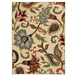 Floral Ivory/ Multi Indoor Machine-made Nylon Area Rug (53 X 73)