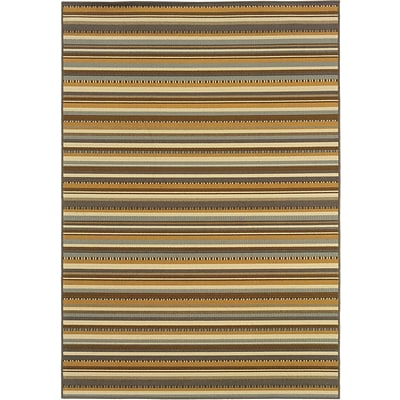 StyleHaven Abstract Brown/ Gold Indoor Machine-made Polypropylene Area Rug (33 X 55)