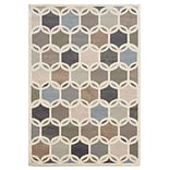 Geometric Circles Ivory/ Multi Indoor Machine-made Polypropylene Area Rug (53 X 73)