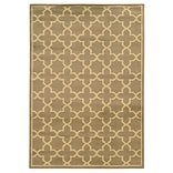 StyleHaven Transitional Floral Nylon 78 X 1010 Beige/Red Area Rug (WALL054A18X11L)