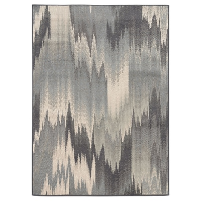 Abstract Ikat Multi/ Blue Indoor Machine-made Polypropylene Area Rug (710 X 10)