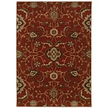 Floral Red/ Multi Indoor Machine-made Nylon/Polypropylene Area Rug (310 X 55)
