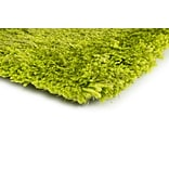 Shag Green/ Green Indoor Hand-made Polyester Area Rug (5 X 7)