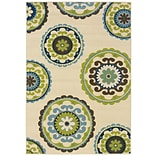 StyleHaven Transitional Floral Nylon 67 X 96 Brown/Green Area Rug (WALL054C16X9L)