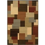 StyleHaven Geometric Ikat Multi/ Stone Indoor Machine-made Polypropylene Area Rug (710 X 1010)