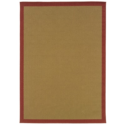 StyleHaven Traditional Polypropylene 53 X 79 Red/Ivory Area Rug (WARI117C35X8L)