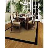 Outdoor Beige/ Black Indoor/Outdoor Machine-made Polypropylene Area Rug (53 X 76)