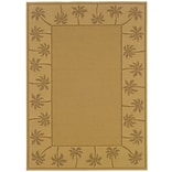 Outdoor Beige/ Tan Indoor/Outdoor Machine-made Polypropylene Area Rug (53 X 76)