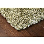 Shag Green/ Ivory Indoor Machine-made Polypropylene Area Rug (710 X 112)