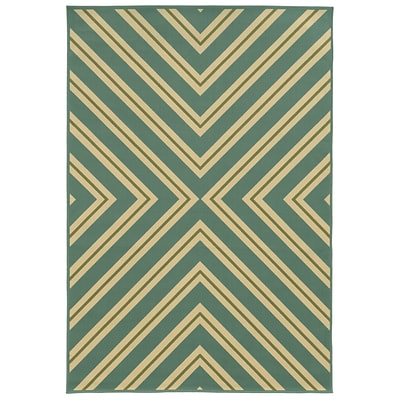 StyleHaven Oriental Green/ Plum Indoor Machine-made Polypropylene Area Rug (67 X 96)