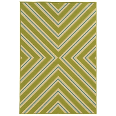 StyleHaven Chevron Multicolor Indoor Machine-made Polypropylene Area Rug (67 X 96)