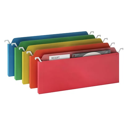 Find It® Mini Tab View Hanging File Folder, Assorted, 6/Pack
