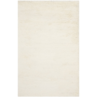 Safavieh Classic Shag Medium Rectangle Area Rug, 5 x 8, White