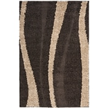 Safavieh Willow Shag Large Rectangle Area Rug, 8 6 x 12, Dark Brown/Beige