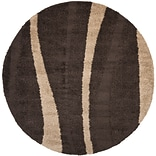 Safavieh Willow Shag Round Area Rug, 4 x 4, Dark Brown/Beige
