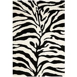 Safavieh Zebra Shag Large Rectangle Area Rug, 8 x 10, Ivory/Black