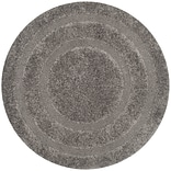 Safavieh Shadow Box Shag Round Area Rug, 4 x 4, Gray