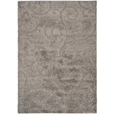 Safavieh Florida Sydney Shag Medium Rectangle Area Rug, 6 x 9, Gray/Beige