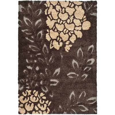 Safavieh Florida Ruby Shag Medium Rectangle Area Rug, 5 3 x 7 6, Dark Brown/Gray