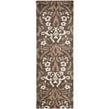 Safavieh Florida Veronica Shag Rectangle/Runner Area Rug, 2 3 x 7, Smoke/Beige