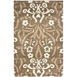Safavieh Florida Veronica Shag Small Rectangle Area Rug, 3 3 x 5 3, Smoke/Beige