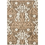 Safavieh Florida Veronica Shag Large Rectangle Area Rug, 8 x 10, Smoke/Beige