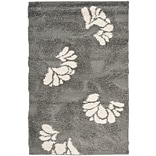 Safavieh Florida Lindsay Shag Small Rectangle Area Rug, 4 x 6, Gray/Beige