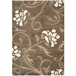 Safavieh Florida Erica Shag Medium Rectangle Area Rug, 5 3 x 7 6, Smoke/Beige