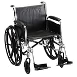Nova Wheelchair w/Full Arms&Footrests 37x13