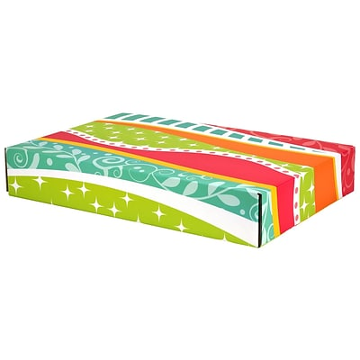 12.2(L)x 3(W)x17.8(H) GPP Gift Shipping Box, Classic Line, Funky Pattern, 24/Pack