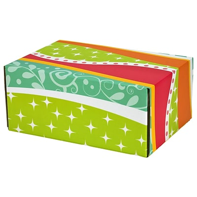 6.2(L)X 3.7(W)X9.5(H) GPP Gift Shipping Box, Classic Line, Funky Pattern, 24/Pack