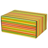 8.8(L)X 5.5(W)X12.2(H) GPP Gift Shipping Box, Classic Line, Bright Stripes, 12/Pack