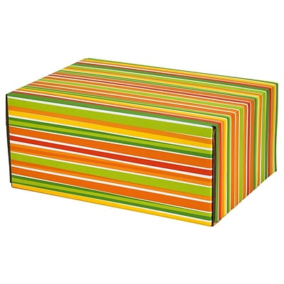 8.8(L)X 5.5(W)X12.2(H) GPP Gift Shipping Box, Classic Line, Bright Stripes, 6/Pack