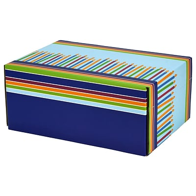 8.8(L)X 5.5(W)X12.2(H) GPP Gift Shipping Box, Classic Line, Birthday Candles, 12/Pack