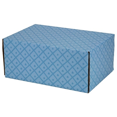 8.8(L)X 5.5(W)X12.2(H) GPP Gift Shipping Box, Classic Line, Diamonds & Dots, 12/Pack