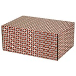 6.2(L)X 3.7(W)X9.5(H) GPP Gift Shipping Box, Classic Line, Tile Pattern, 48/Pack