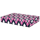 12.2(L)x 3(W)x17.8(H) GPP Gift Shipping Box, Classic Line, Pink/Navy Argyle, 12/Pack