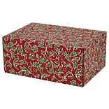 8.8(L)X 5.5(W)X12.2(H) GPP Gift Shipping Box, Holiday Line, Christmas Holly, 12/Pack