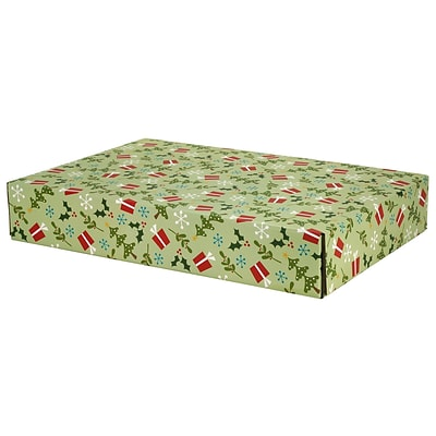 12.2(L)x 3(W)x17.8(H) GPP Gift Shipping Box, Holiday Line, Gifts and Trees, 6/Pack