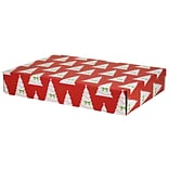 12.2(L)x 3(W)x17.8(H) GPP Gift Shipping Box, Holiday Line, Christmas Trees, 12/Pack