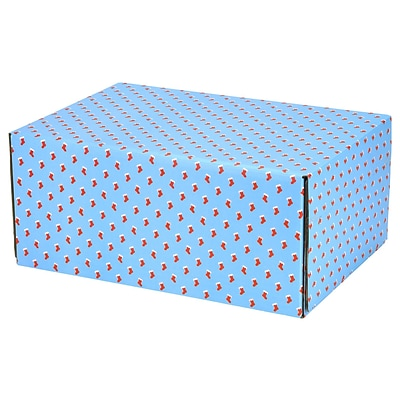 6.2(L)X 3.7(W)X9.5(H) GPP Gift Shipping Box, Holiday Line, Red Stockings, 24/Pack