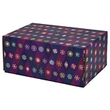 6.2(L)X 3.7(W)X9.5(H) GPP Gift Shipping Box, Holiday Line, Purple Pointed Ovals, 12/Pack