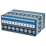 6.2(L)X 3.7(W)X9.5(H) GPP Gift Shipping Box, Lisa Line, Nordic Blue, 6/Pack