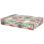 12.2(L)x 3(W)x17.8(H) GPP Gift Shipping Box, Lisa Line, Floral Fun, 48/Pack