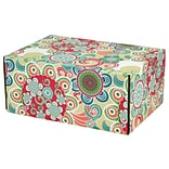 8.8(L)X 5.5(W)X12.2(H) GPP Gift Shipping Box, Lisa Line, Floral Fun, 6/Pack